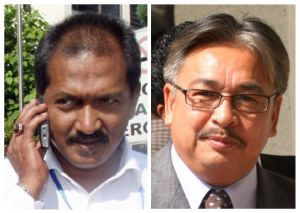 HILANG... PKR Perak mendakwa ADUN Behrang, Jamaluddin Mohd. Radzi (kiri) dan ADUN Changkat Jering, Kapt (B) Mohd Osman Jailu (kanan) hilang dan gagal dikesan.